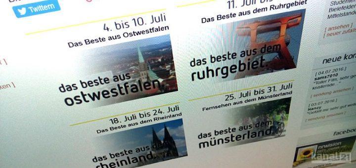 Sommerprogramm nrwision 2016